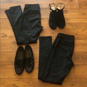 🍄 Plaid skinny dress pants